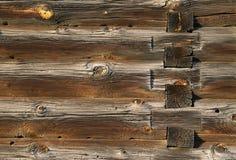 Il legno registra la struttura di vecchia casa Fotografia Stock Libera da Diritti