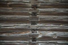 Il legno registra la struttura di vecchia casa Immagine Stock Libera da Diritti
