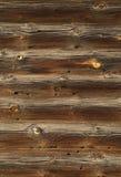 Il legno registra la struttura di vecchia casa Fotografia Stock