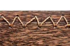 Il legno ropes la priorità bassa Fotografia Stock Libera da Diritti