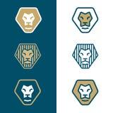 Il leone stilizzato si dirige verso il logo Immagine Stock