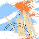 Il lerciume blu dipinto barra il modello Etichette viola, fondo, struttura della pittura La spazzola segna la struttura di vettor illustrazione di stock