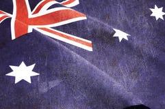 Il lerciume ha afflitto la vecchia bandiera australiana invecchiata Fotografia Stock Libera da Diritti