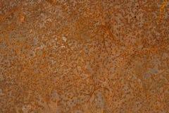 Il lerciume ha arrugginito struttura del metallo Corrosione arrugginita e fondo ossidato Pannello metallico consumato del ferro fotografia stock libera da diritti
