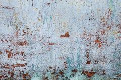 Il lerciume ha arrugginito struttura del metallo, fondo ossidato blu-grigio del metallo Vecchio pannello del ferro del metallo su immagine stock libera da diritti