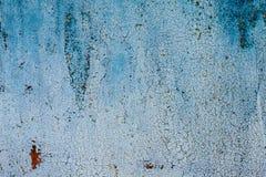 Il lerciume ha arrugginito struttura del metallo, fondo del metallo ossidato blu Vecchio pannello del ferro del metallo Superfici immagine stock libera da diritti