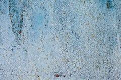 Il lerciume ha arrugginito struttura del metallo, fondo del metallo ossidato blu Vecchio pannello del ferro del metallo Superfici immagini stock