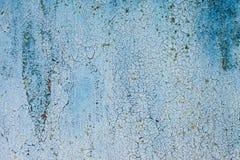 Il lerciume ha arrugginito struttura del metallo, fondo del metallo ossidato blu Vecchio pannello del ferro del metallo Superfici fotografia stock libera da diritti