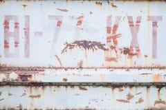 Il lerciume ha dipinto il fondo metallico immagine stock