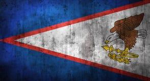 Il lerciume ha sgualcito la bandiera dei Samoa rappresentazione 3d Immagini Stock