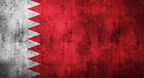 Il lerciume ha sgualcito la bandiera del Bahrain rappresentazione 3d Fotografia Stock Libera da Diritti