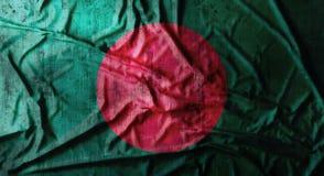 Il lerciume ha sgualcito la bandiera del Bangladesh rappresentazione 3d Fotografie Stock Libere da Diritti