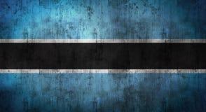 Il lerciume ha sgualcito la bandiera del Botswana rappresentazione 3d Fotografia Stock Libera da Diritti