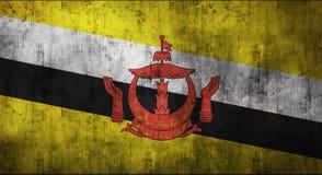 Il lerciume ha sgualcito la bandiera del Brunei rappresentazione 3d Fotografia Stock Libera da Diritti