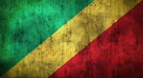 Il lerciume ha sgualcito la bandiera del Congo rappresentazione 3d Fotografie Stock Libere da Diritti