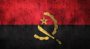 Il lerciume ha sgualcito la bandiera dell'Angola rappresentazione 3d Immagine Stock
