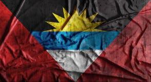 Il lerciume ha sgualcito la bandiera dell'Antigua e Barbuda rappresentazione 3d Fotografia Stock