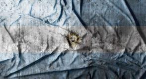 Il lerciume ha sgualcito la bandiera dell'Argentina rappresentazione 3d Immagine Stock