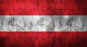Il lerciume ha sgualcito la bandiera dell'Austria rappresentazione 3d Fotografia Stock Libera da Diritti