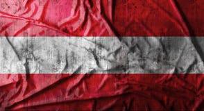 Il lerciume ha sgualcito la bandiera dell'Austria rappresentazione 3d Fotografie Stock