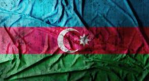 Il lerciume ha sgualcito la bandiera dell'Azerbaigian rappresentazione 3d Fotografie Stock