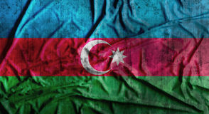 Il lerciume ha sgualcito la bandiera dell'Azerbaigian rappresentazione 3d Fotografia Stock Libera da Diritti