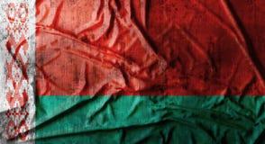 Il lerciume ha sgualcito la bandiera della Bielorussia rappresentazione 3d Immagine Stock