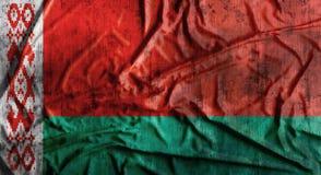 Il lerciume ha sgualcito la bandiera della Bielorussia rappresentazione 3d Immagine Stock Libera da Diritti