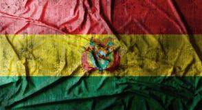 Il lerciume ha sgualcito la bandiera della Bolivia rappresentazione 3d Fotografie Stock