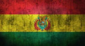 Il lerciume ha sgualcito la bandiera della Bolivia rappresentazione 3d Fotografia Stock