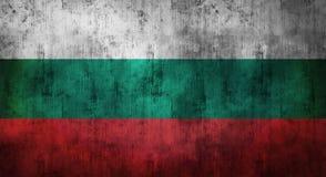 Il lerciume ha sgualcito la bandiera della Bulgaria rappresentazione 3d Fotografie Stock Libere da Diritti