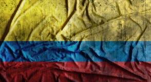 Il lerciume ha sgualcito la bandiera della Colombia rappresentazione 3d Immagine Stock
