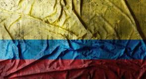Il lerciume ha sgualcito la bandiera della Colombia rappresentazione 3d Fotografia Stock