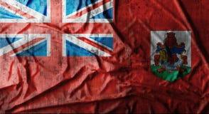 Il lerciume ha sgualcito la bandiera delle Bermude rappresentazione 3d Fotografie Stock Libere da Diritti
