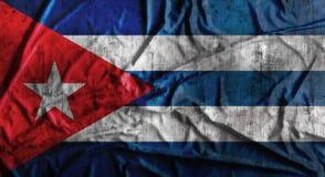 Il lerciume ha sgualcito la bandiera di Cuba rappresentazione 3d Fotografia Stock