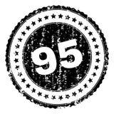 Il lerciume ha strutturato una guarnizione di 95 bolli illustrazione vettoriale