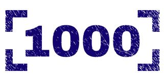 Il lerciume ha strutturato una guarnizione di 1000 bolli fra gli angoli illustrazione vettoriale