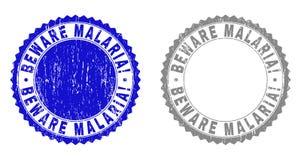 Il lerciume SI GUARDA dalla MALARIA! Filigrane strutturate illustrazione di stock