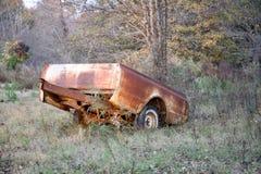 Il letto di camion ha convertito in rimorchio Immagini Stock Libere da Diritti