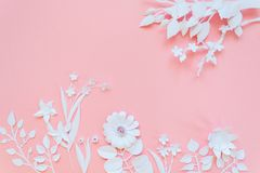 Il Libro Bianco fiorisce la carta da parati, il fondo dell'estate della molla, elementi di progettazione floreale Immagine Stock