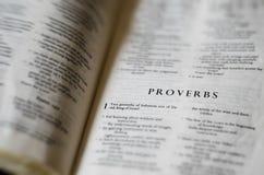 Il libro dei proverbi Fotografie Stock Libere da Diritti