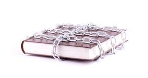 Il libro del Brown è catena a maglia Fotografia Stock Libera da Diritti