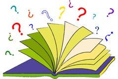 Il libro delle domande Immagini Stock