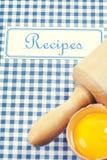 Il libro delle ricette immagine stock