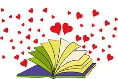 Il libro di amore Fotografia Stock