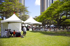 Il libro ed il festival di musica delle Hawai Fotografia Stock Libera da Diritti