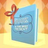 Il libro è il migliore presente Immagine Stock