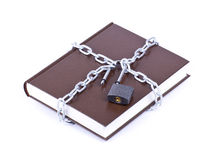Il libro marrone è catena a maglia Immagine Stock Libera da Diritti