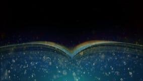 Il libro sta galleggiando sotto l'acqua Un libro delle avventure e delle fantasie circa il mondo marino illustrazione di stock
