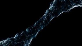 Il liquido di flusso come l'acqua fila in un mulinello o in un tornado Il flusso di liquido gira e forma un vortice Turbinio dell immagine stock